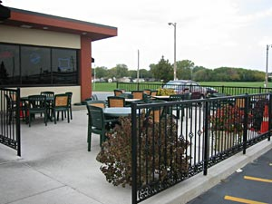 Great food inside and outside